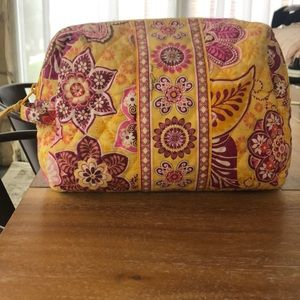 Vera Bradley Bali Gold  Large Cosmetic Bag